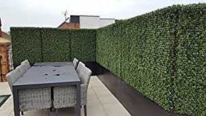 Artificial Topiary Hedge Plant Privacy Fence Screen Greenery Panels Suitable for Both Outdoor or Indoor, garden or backyard and home decorations, Boxwood 20 x 20 Inch (48pack cover132 sqf) By e-Joy