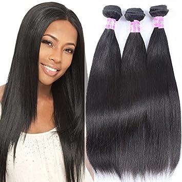 Amazon.com   28 28 28 inch virgin brazilian hair 3 bundles Straight Hair  Weave Bundles Human Hair Extensions Cheap Brazilian Virgin Hair Straight    Beauty daf9212e9716