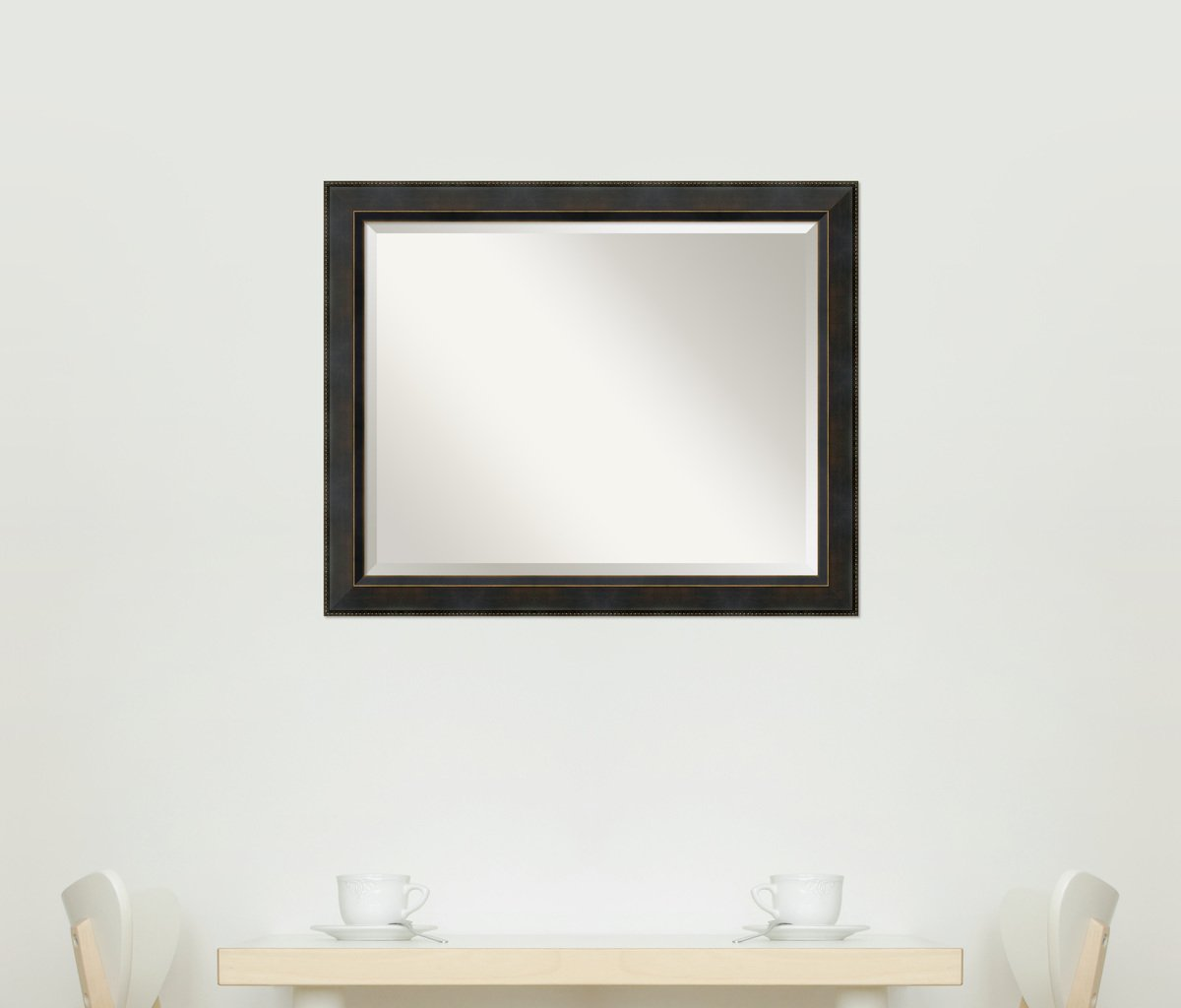 Wall Mirror Large, Signore Bronze Wood: Outer Size 32 x 26'' by Amanti Art (Image #10)