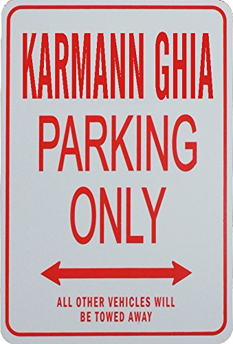 Signes de stationnement KARMANN GHIA - KARMANN GHIA Parking Only Sign funparkingsigns IT-KARMANN GHIA