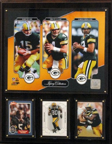 Green Bay Packers Plaque - NFL Green Bay Packers Starr/Favre/Rodgers 12x15-Inch Legacy Collection Plaque