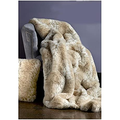 Donna Salyers Fabulous Furs Faux Fur Throw Lynx