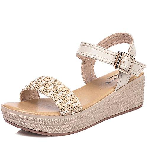Verano Zapatos De Suela Gruesa Plataforma/Comodidad Y Ocio Sandalias De Fondo Plano A