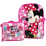 Disney Minnie Mouse 15' Backpack and Lunch Bag Set