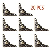 Whale GoGo 20 PCS 35mm Heart Shape Vintage Style Decorative Jewelry Gift Box Corner Protectors Furniture Desk Edge Covers