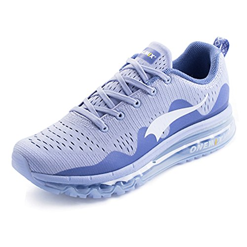Women's Running Shoes Air Cushion Mesh Breathable Knit Outdoor Walking Shoes