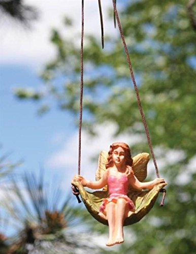 Victorian Trading Co Hanging Resin Garden Fairy Handpainted 3