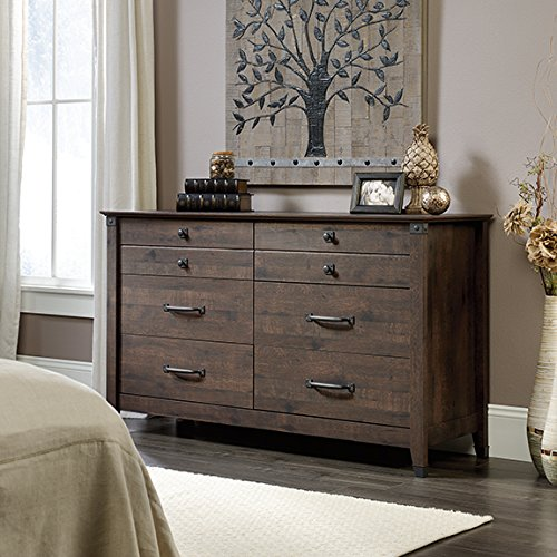 Sauder Carson Forge  Dresser in Coffee Oak