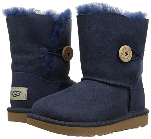UGG Girls T Bailey Button II Pull-On Boot, Navy, 12 M US Little Kid by UGG (Image #6)