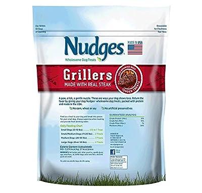 Nudges Steak Grillers Dog Treats, 36 Ounce