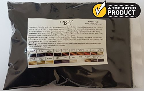 New Hair Building Fibers 100+14=114 Grams. Highest Grade Refill That You Can Use for Your Bottles From Competitors Like Toppik, Xfusion, Topix (Black) by Finally Hair