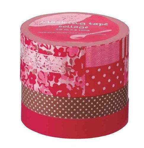 Japanese Washi Masking Tape Set of 3 - Tokyo Edge Collage rot by Mark's Washi Tape B01IQFII7W | Neue Sorten werden eingeführt
