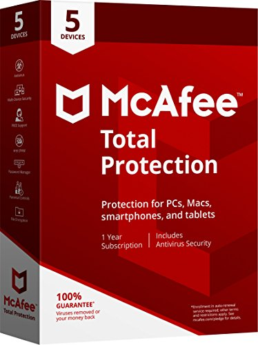 McAfee 2018 Total Protection - 5 - Online Sites Outlet