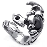 Best GOGO Mens Silicone Wedding Rings - Aokarry Scorpion Ring, Men's Stainless Steel Ring Gothic Review