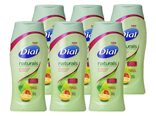 Dial Body Wash, Naturals Tangerine and Guava, 11.75 Ounce Pack of 6