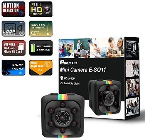 ehomful 1080P Body Camera Action Camera – Hidden Spy Camera for Car