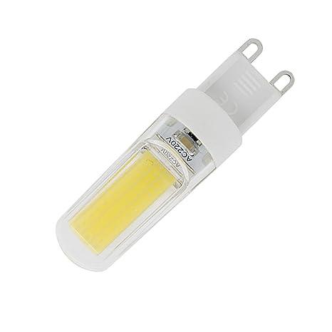 phigoning 5 unidades regulable LED G9 3 W LED COB Bombilla LED Bombilla de bajo consumo