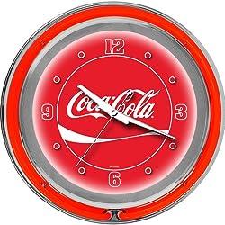 Coca-Cola Chrome Double Ring Neon Clock, 14