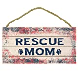 "Imagine This ""Rescue Mom Wood Sign for Pets"