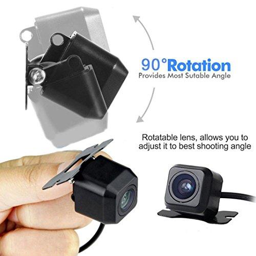 Quaanti New Arrival 170 Degree CMOS Waterproof Night Vision Car Rear View Reverse Backup Parking Camera HD (Black) by Quaanti (Image #5)
