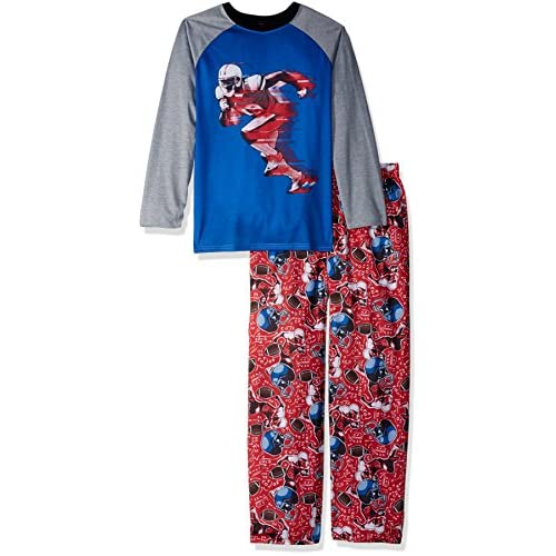 hot The Children's Place Big Boys' Top and Pants Pajama Set 2, Blue Hole 85069, XS (4)
