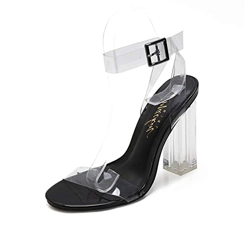 7566d2ee46 Amazon.com | MACKIN J G349-1 Transparent Open Toe Ankle Strappy ...