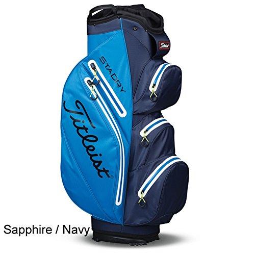 New Titleist StaDry Cart Bag - Choose Your Color (Sapphire / Navy) - Titleist 14 Way Cart Bag