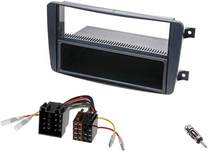Audioproject A220 Autoradio Einbau Set Radioblende Mercedes C Klasse W203 Clk W209 Viano Vito Einbaurahmen Fach