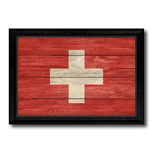 (Switzerland National Country Texture Flag Canvas Print, Home Decor Office Wall Decoration Souvenir Gifts Bedroom Livingroom Masteroom Gameroom ManCave Bar Housewarming, 19