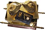 The Ark Of The Covenant Gold Plated with Ark Contents replica ( Aaron Rod, Tablets and Manna ) - Extra Large
