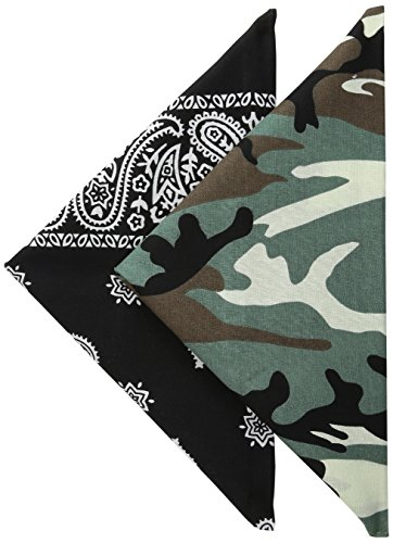 - Levi's Men's 100% Cotton Bandana Headband Gift Sets, Green/Black, One Size