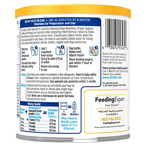 Similac NeoSure Infant Formula with Iron, For Babies Born Prematurely, Powder, 13.1 ounces (Pack of 6) by Similac (Image #10)