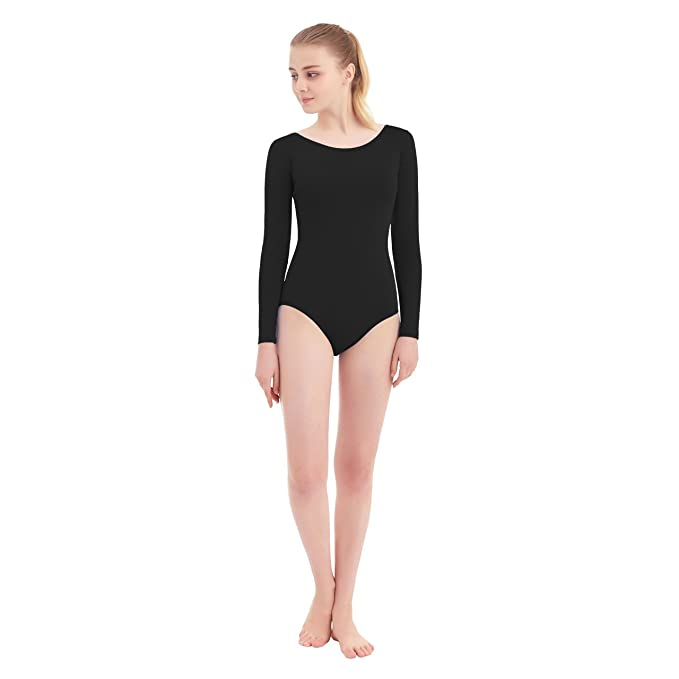 6e62740c79c9 Amazon.com  SUPRNOWA Women s Scoop Neck Lycra Spandex Long Sleeve ...