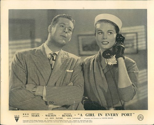 (A GIRL IN EVERY PORT MARIE WILSON LOBBY CARD ORIGINAL F)
