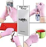 2 Pairs Compression Arthritis Gloves, Fingerless