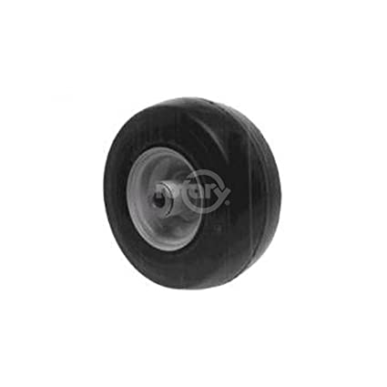 2 Solid Flat free Exmark Front Wheel With Bearing Replaces Exmark 1031224  9X350-4