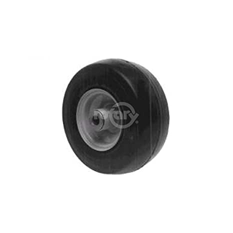 amazon com 2 solid flat free exmark front wheel with bearing