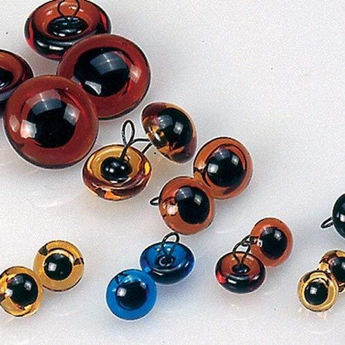 Efco Animal's Eyes, Glass, Blue/Black, 6 mm, 4-Piece Efco Animal's Eyes 1035053