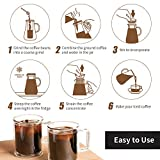 Iced Coffee Maker Cold Brew 1L/34OZ, Iced Coffee