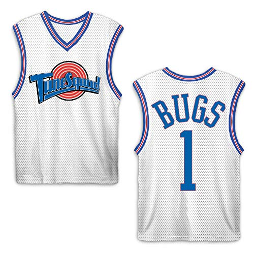 space jam Mens Classic Tank - Tune Squad Michael Jordan & Bugs Bunny Jersey 90's Classic Tank Top (White Bugs, -
