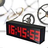 60 second countdown timer - LambTown Digital Led Countdown Timer Electronic Alarm Clock with Temperature Date - Red