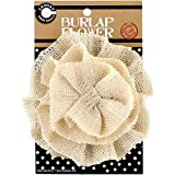 Canvas Corp CVS3397 Burlap Flower, 4-Inch, Ivory