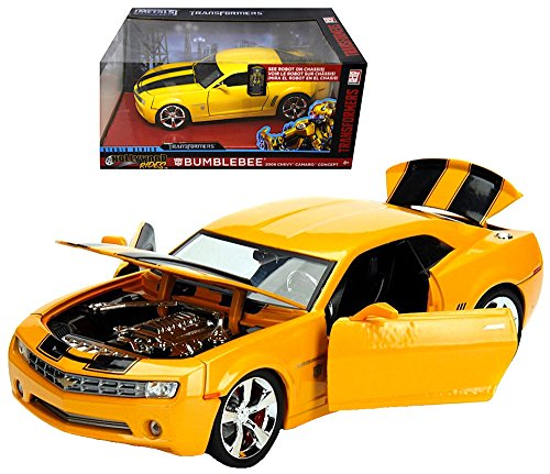 - Jada Diecast Bumblebee 2006 Chevy Camaro Hollywood Rides Vehicle 1:24 Scale