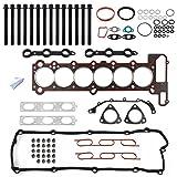 PartsSquare BMW E34 E36 11129064467 11121427826 Cylinder Head Gasket Bolt Set