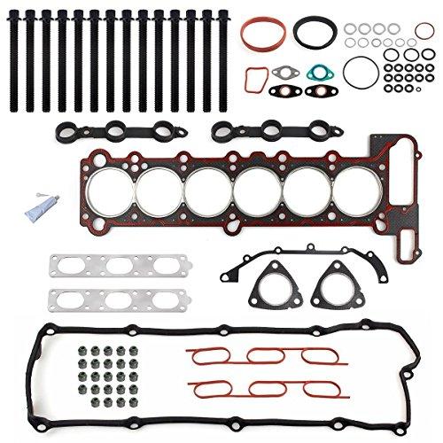 E36 Cylinder Head - Vincos Cylinder Head Gasket Bolt Set Compatible with BMW E34 E36 11129064467 11121427826