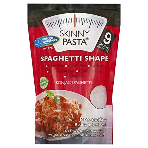 SKINNY PASTA, Konjac Pasta Shape, Spaghetti, Pack of 6, Size 9.52 OZ - Dairy Free Gluten Free Vegan Wheat Free Yeast Free