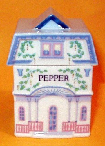 Pepper 'Lenox Spice Village' Porcelain Victorian House Spice Jar