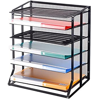 Amazon Com Safco Desk Tray Three Tiers Steel Mesh