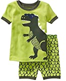 Dearbee Dinosaur Little Boys Shorts 2 Piece Pajama 100% Cotton(Size:2-7 Years) (6 Toddler(Years), Blue Eye Dinosaur)