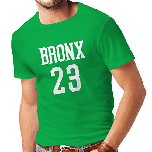 lepni.me Camisetas Hombre Bronx 23 - Moda de Estilo Callejero (Medium Verde Blanco)